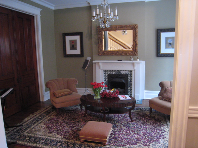 Kemper Place Remodeling Project, Living Room with historic trim