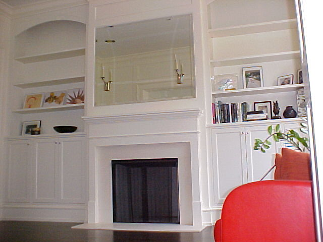 Another Single Family House on Kenmore, Family Room Cabinetr