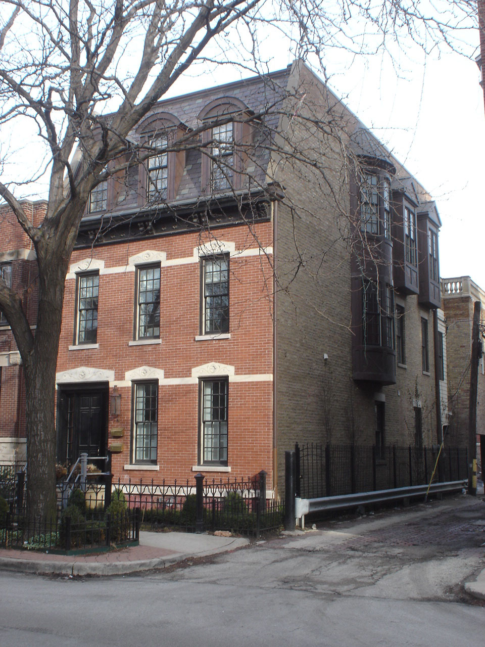 Single Family House on Racine in Lincoln Park, Various additions including 3rd floor
