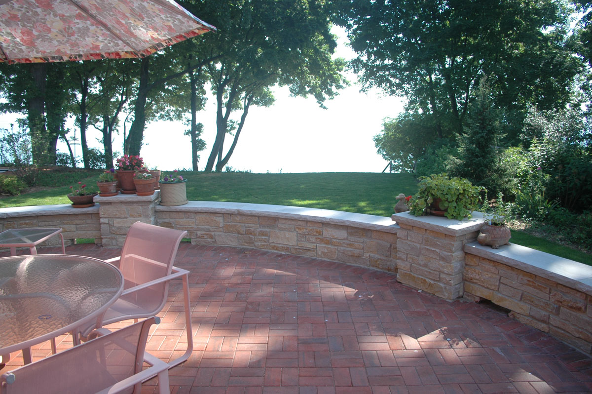 Winnetka House on Lake Michigan, view from rear deck