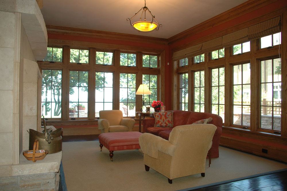 Winnetka House on Lake Michigan, Sun Room