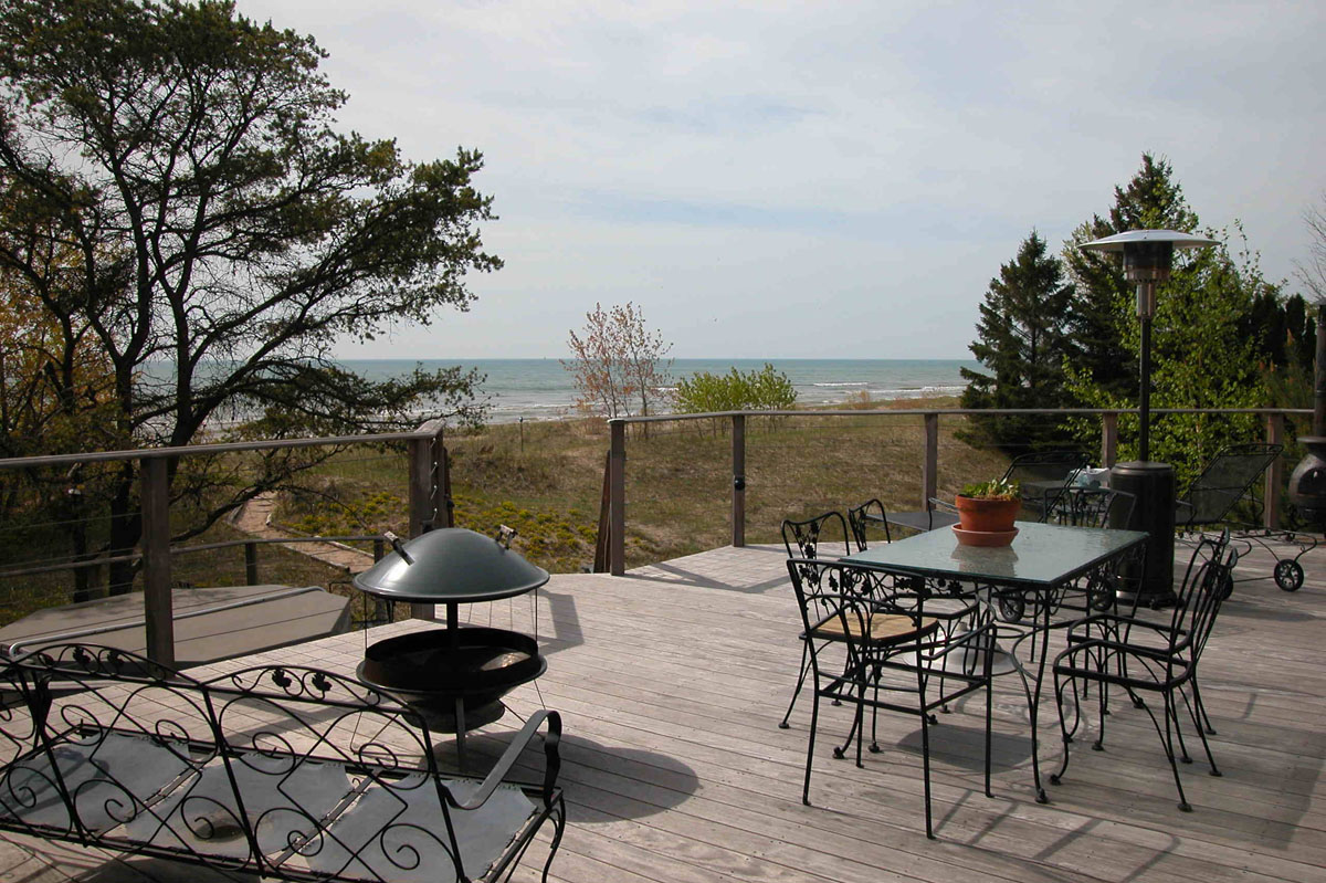 Lake Michigan Beach House 2, view from the deck